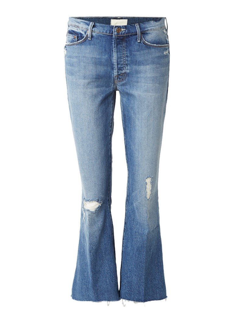 MOTHER High rise croppped flared jeans