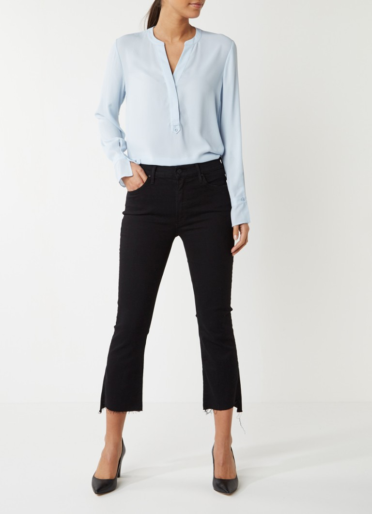 MOTHER Insider Crop Step Fray high rise cropped jeans