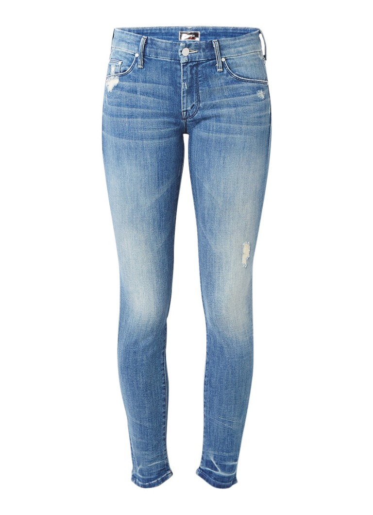 MOTHER The Looker mid rise skinny jeans met destroyed details