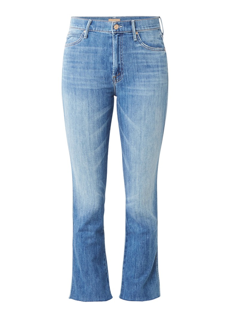 MOTHER The Rascal high waist kick flare jeans met lichte wassing