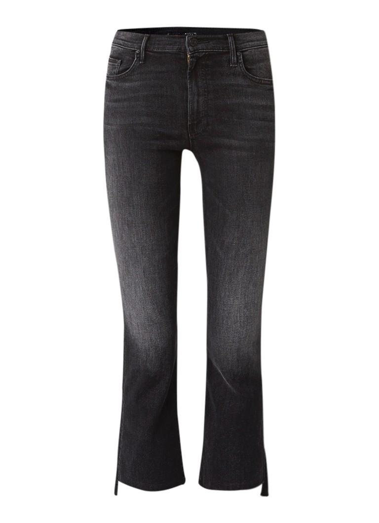 Mother Insider high waist cropped jeans met gerafelde zoom
