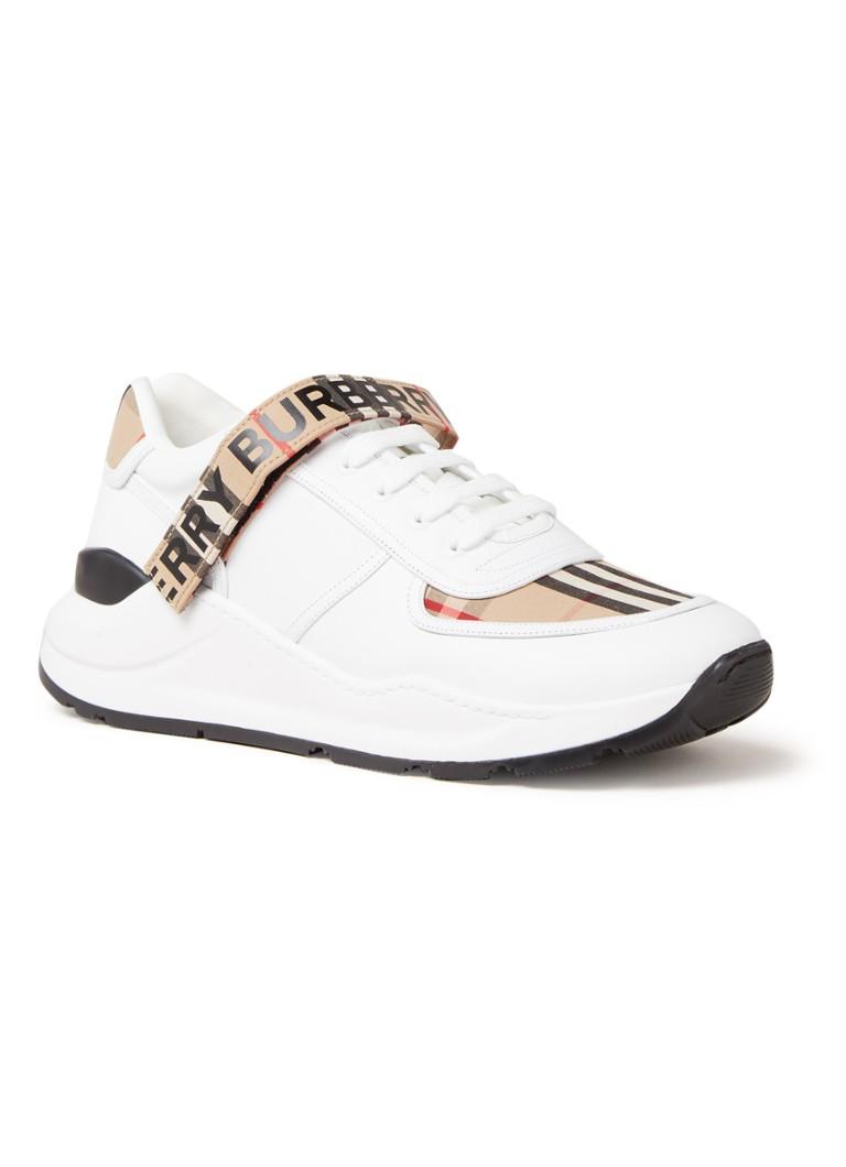 BURBERRY Ronnie sneaker met kalfsleren details