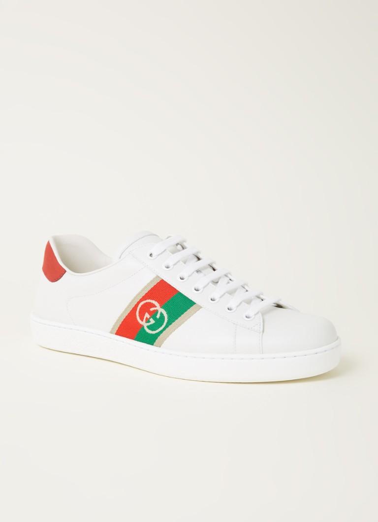 Gucci Ace sneaker van leer met logoborduring