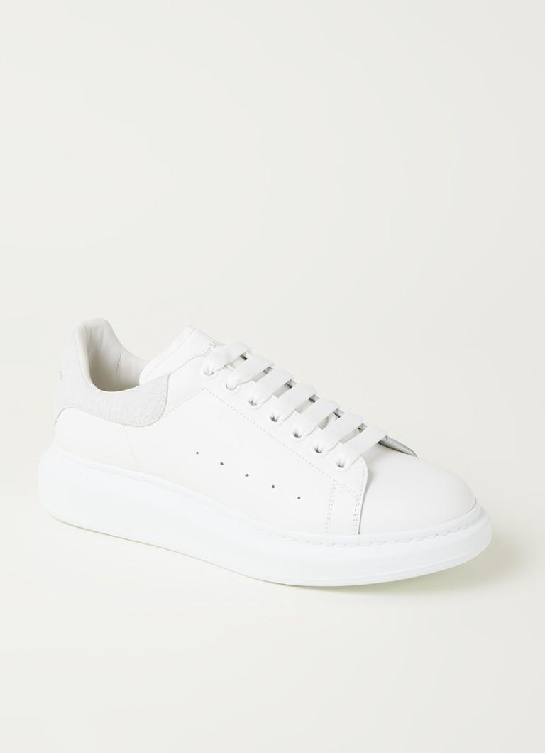 Alexander McQueen Larry sneaker van kalfsleer met suède details