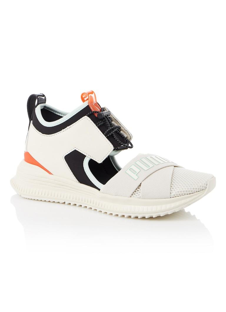 cc23 dames schoenen puma x fenty avid sneaker met logo en cut-out detail gebroken wit