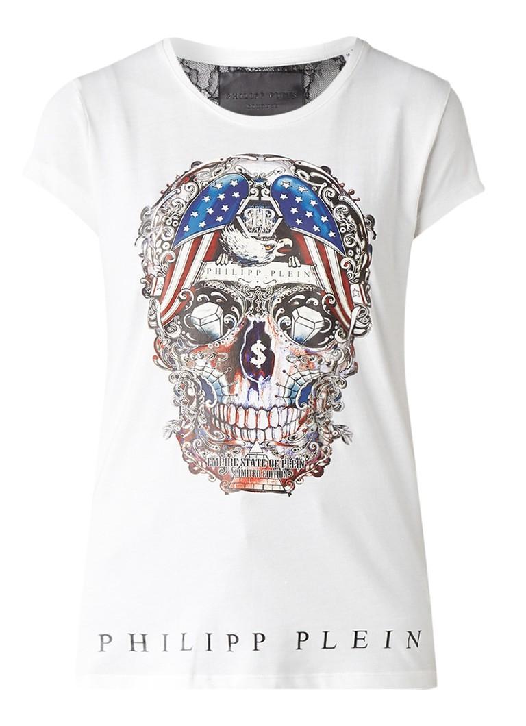 Philipp Plein Majestic Theatre T-shirt met skull-print