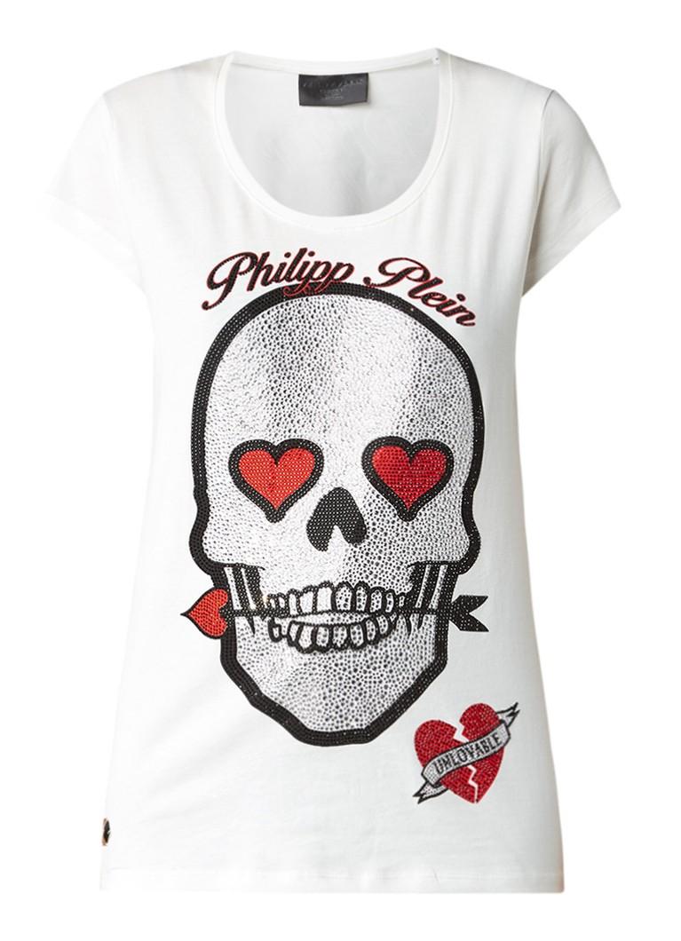 Philipp Plein Balinay T-shirt met skull van strass
