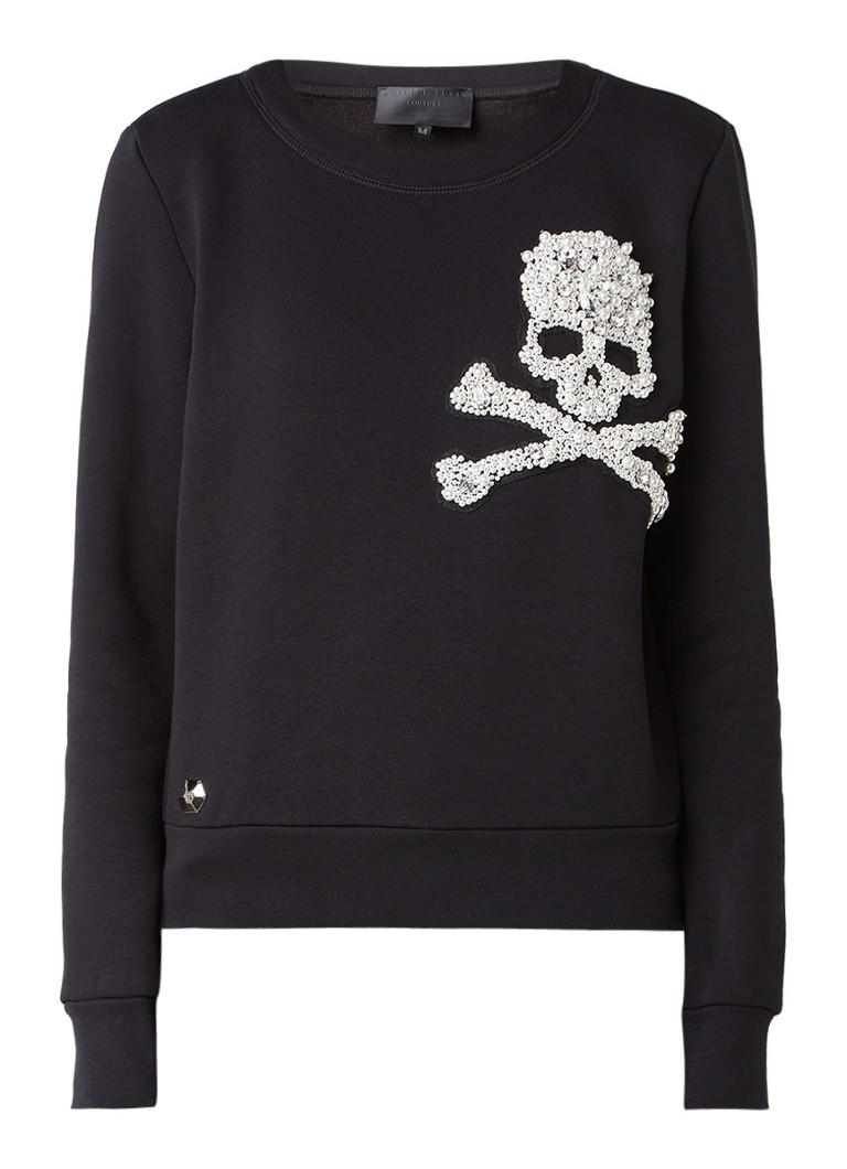 Philipp Plein No One Willl sweater met skull applicatie