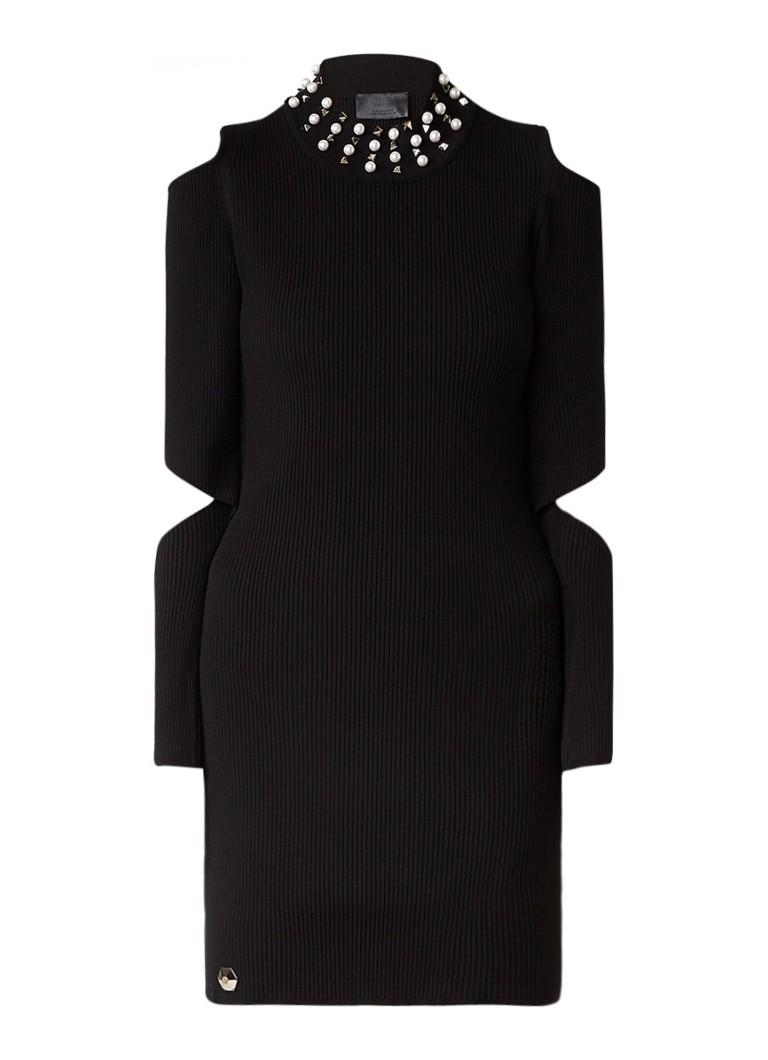 Philipp Plein Cold-shoulder jurk met strass