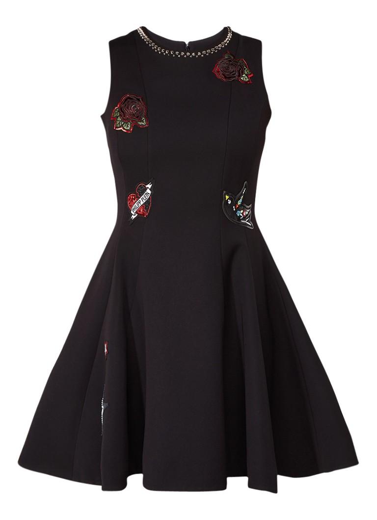 Philipp Plein Kaless A-lijn jurk met patches