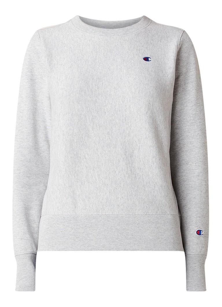 Champion Gemeleerde sweater met logoborduring