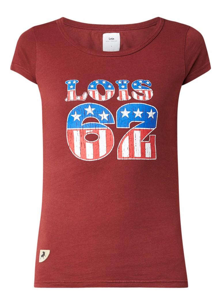 Lois UCLA T-shirt met logoprint