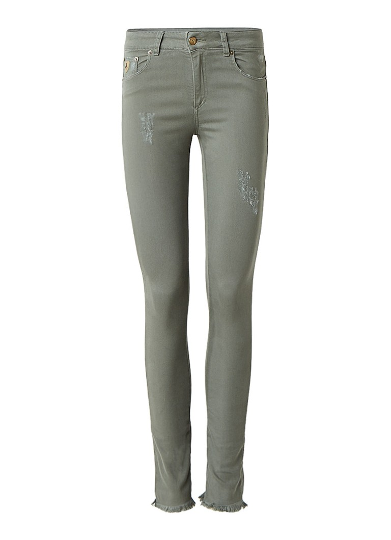 Lois Cordoba high rise cropped skinny jeans met destroyed look