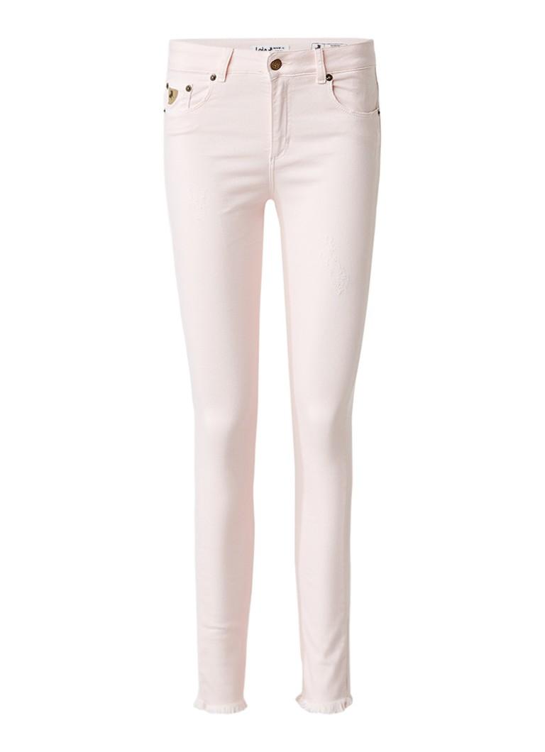 Lois Cordoba high rise cropped skinny jeans met gerafelde afwerking