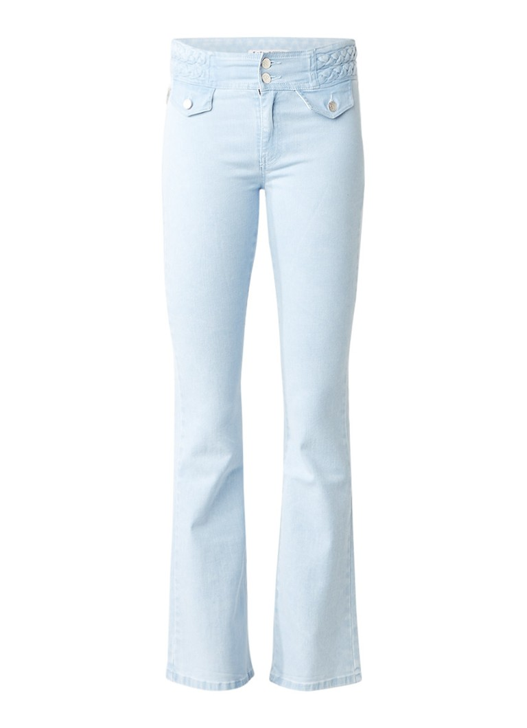 Lois Donna high rise flared jeans met gevlochten detail