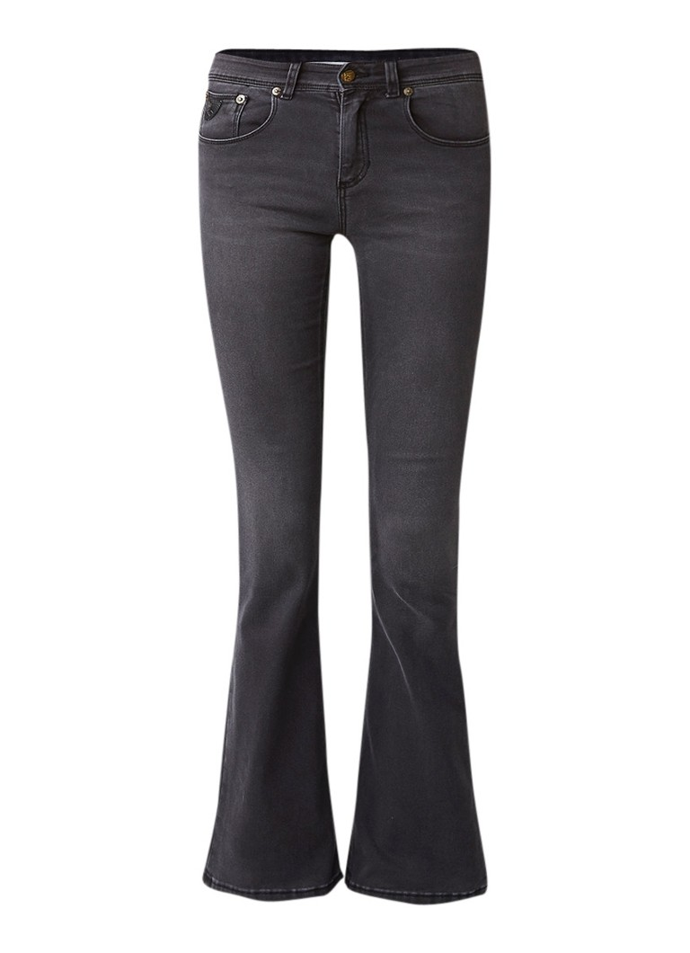 Lois Melrose high rise flare jeans met donkere wassing