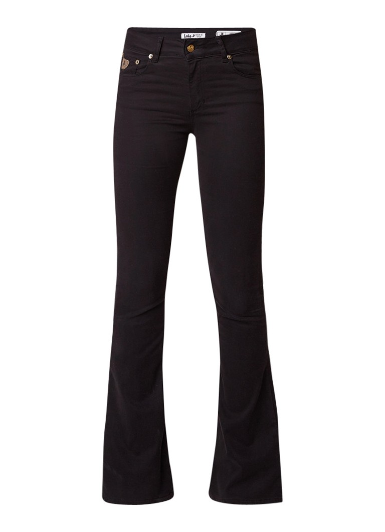 Lois Raval high rise flared jeans met stretch