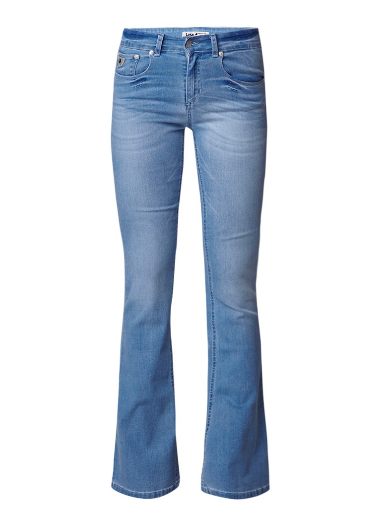 Lois Melrose high rise flare jeans met lichte wassing