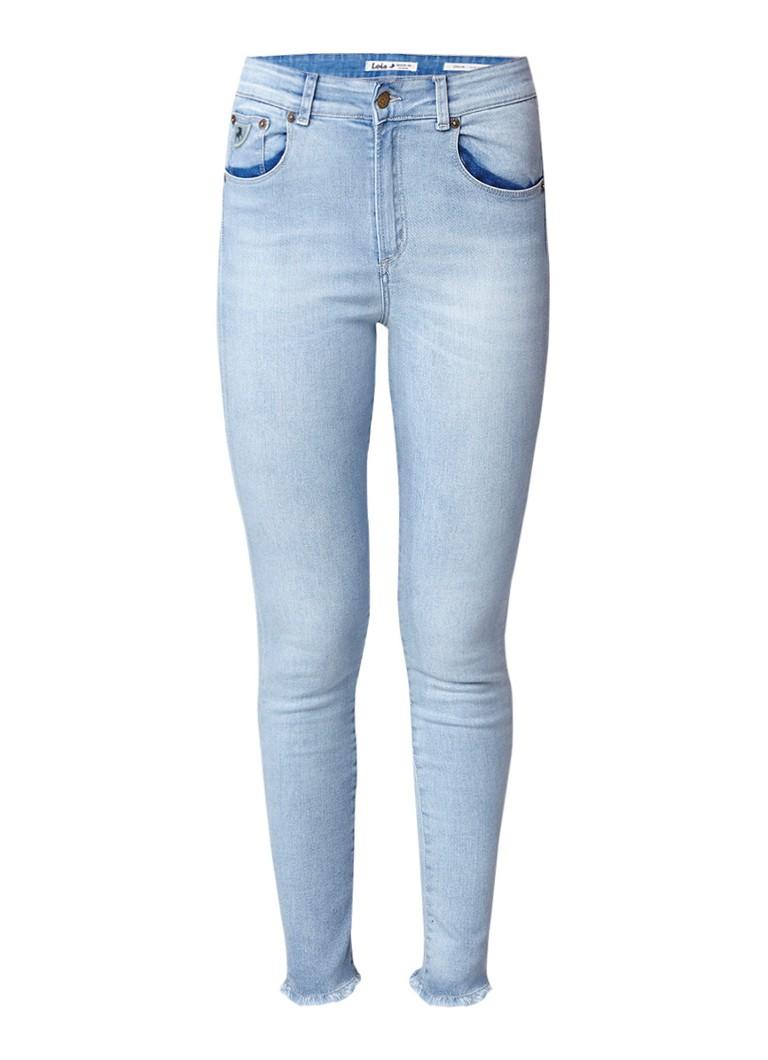 Lois Celia new highwaist skinny fit jeans met gerafelde zoom