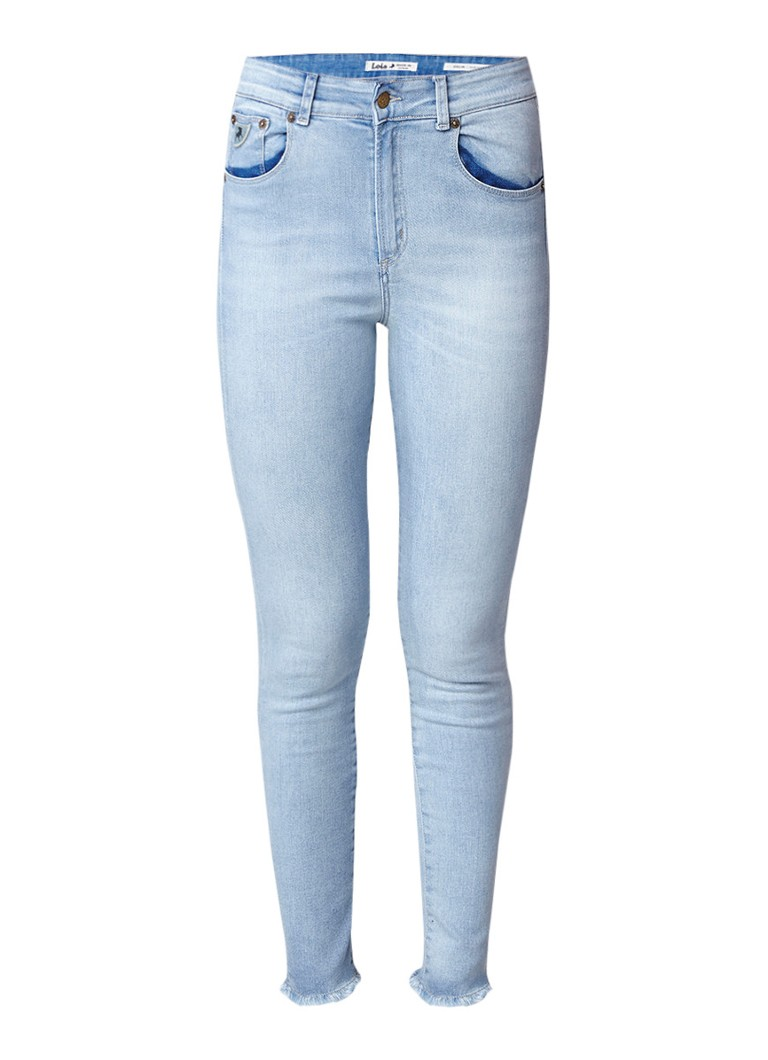 Lois Celia new highwaist skinny fit jeans met gerafelde zoom