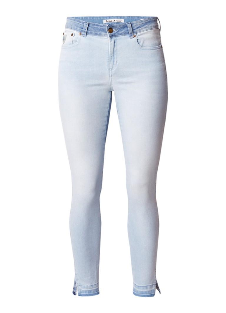 Lois Cordoba high waist skinny fit jeans met gerafelde afwerking