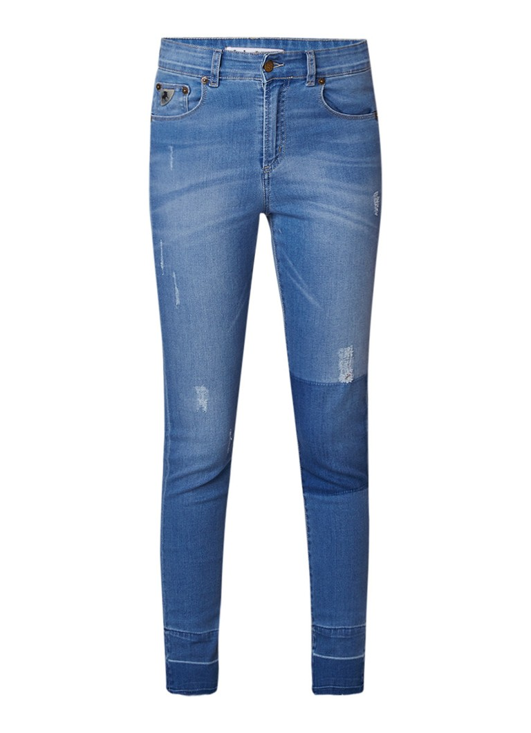 Lois Celia high rise slim fit jeans met destroyed details