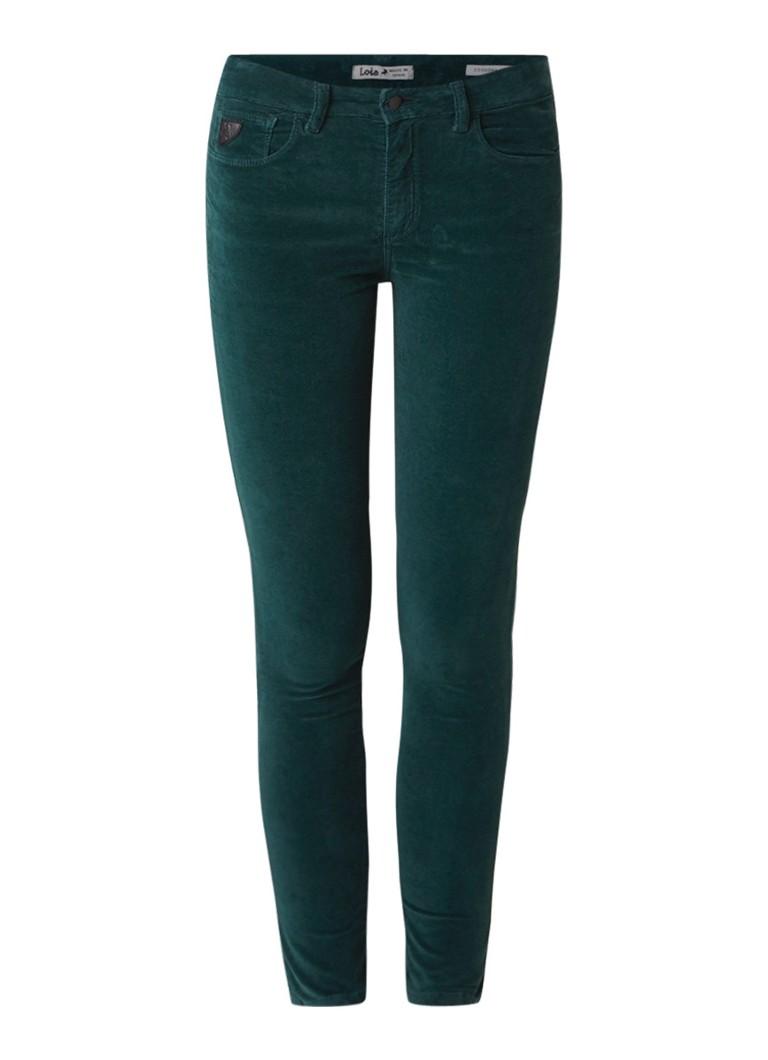 Lois Cordoba low rise skinny fit jeans van velours