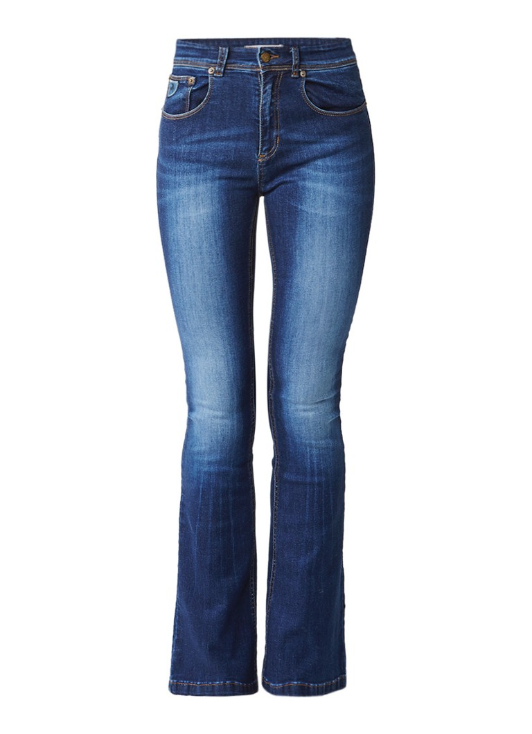 Lois Melrose flaired jeans met donkere wassing