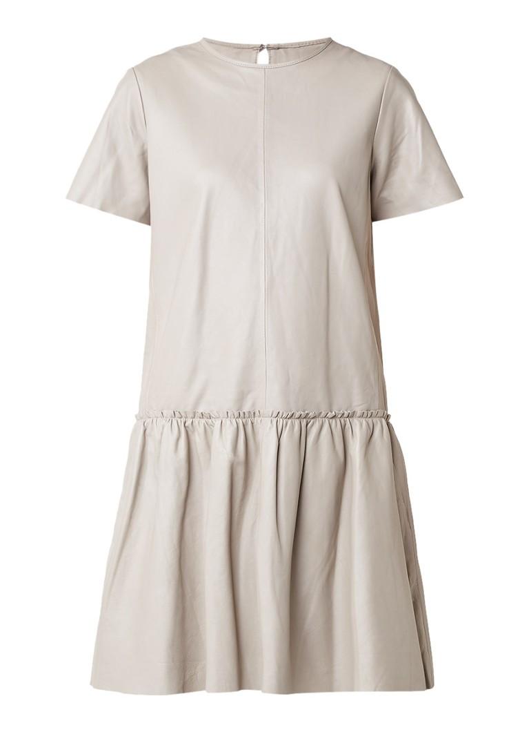 STAND Rosa jurk van lamsleer
