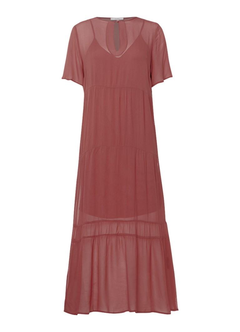 Gestuz Ayo maxi-jurk met keyhole detail oudroze