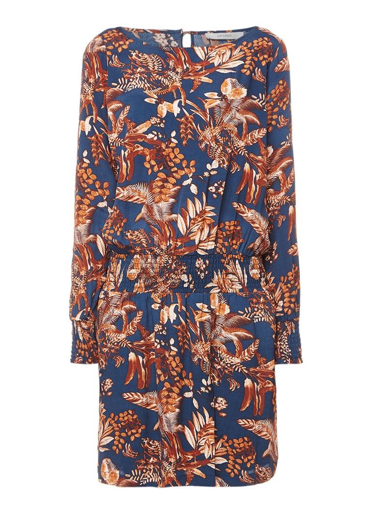 Gestuz Penny jurk met bloemendessin donkerblauw