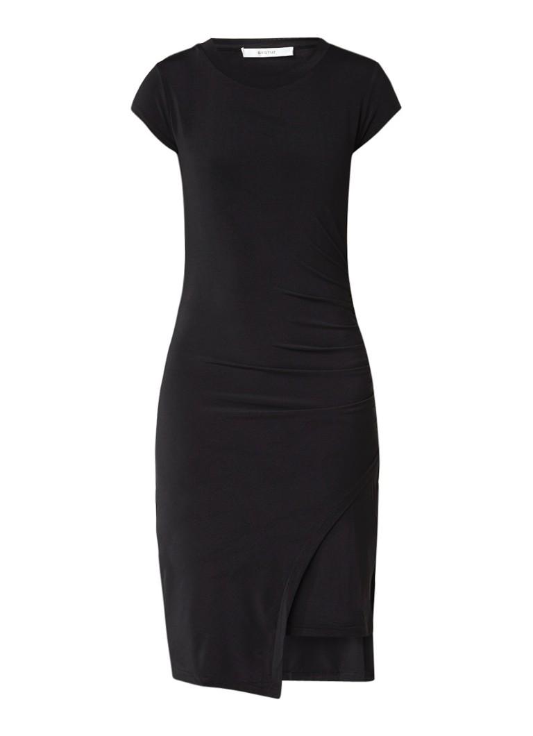 Gestuz Carenza jurk met overlay en rimpeldetail zwart