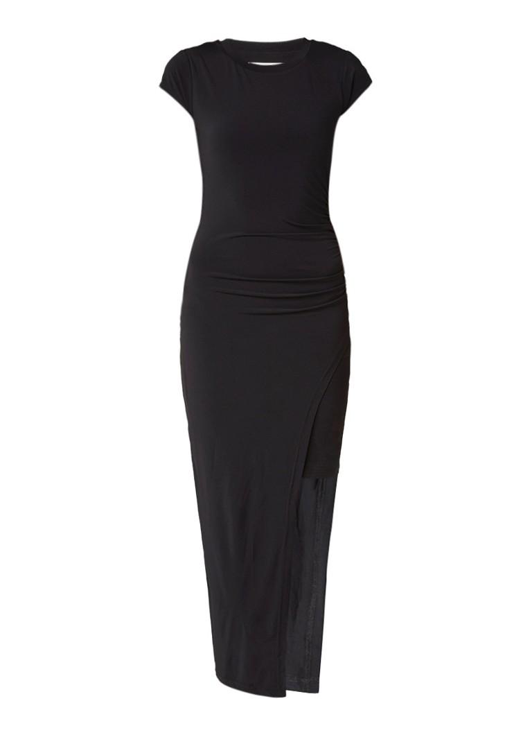 Gestuz Carenza gelaagde jurk met smock zwart
