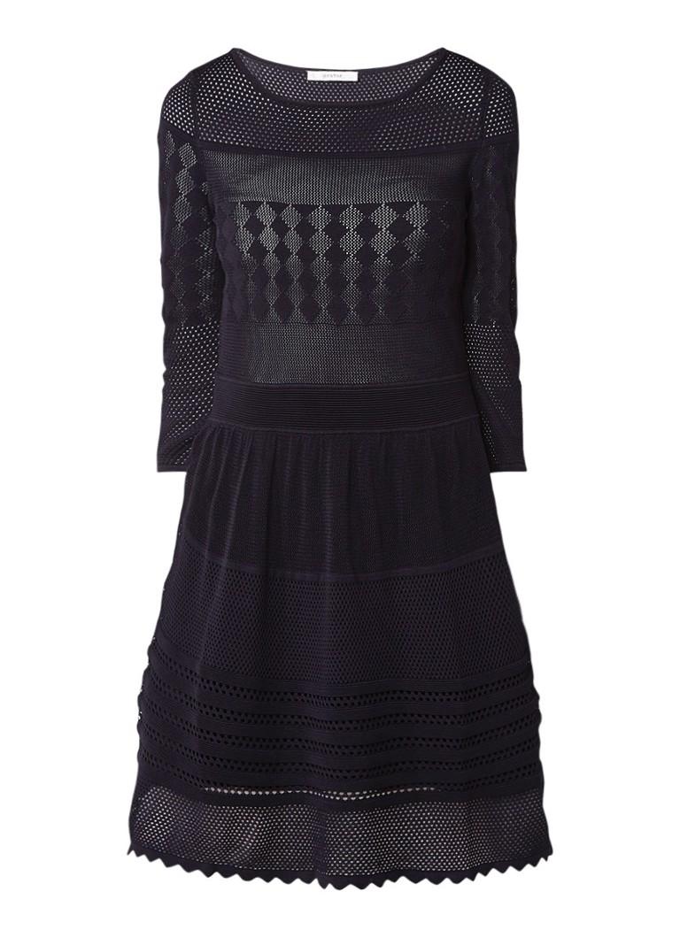 Gestuz Penelope gehaakte A-lijn jurk met stretch zwart