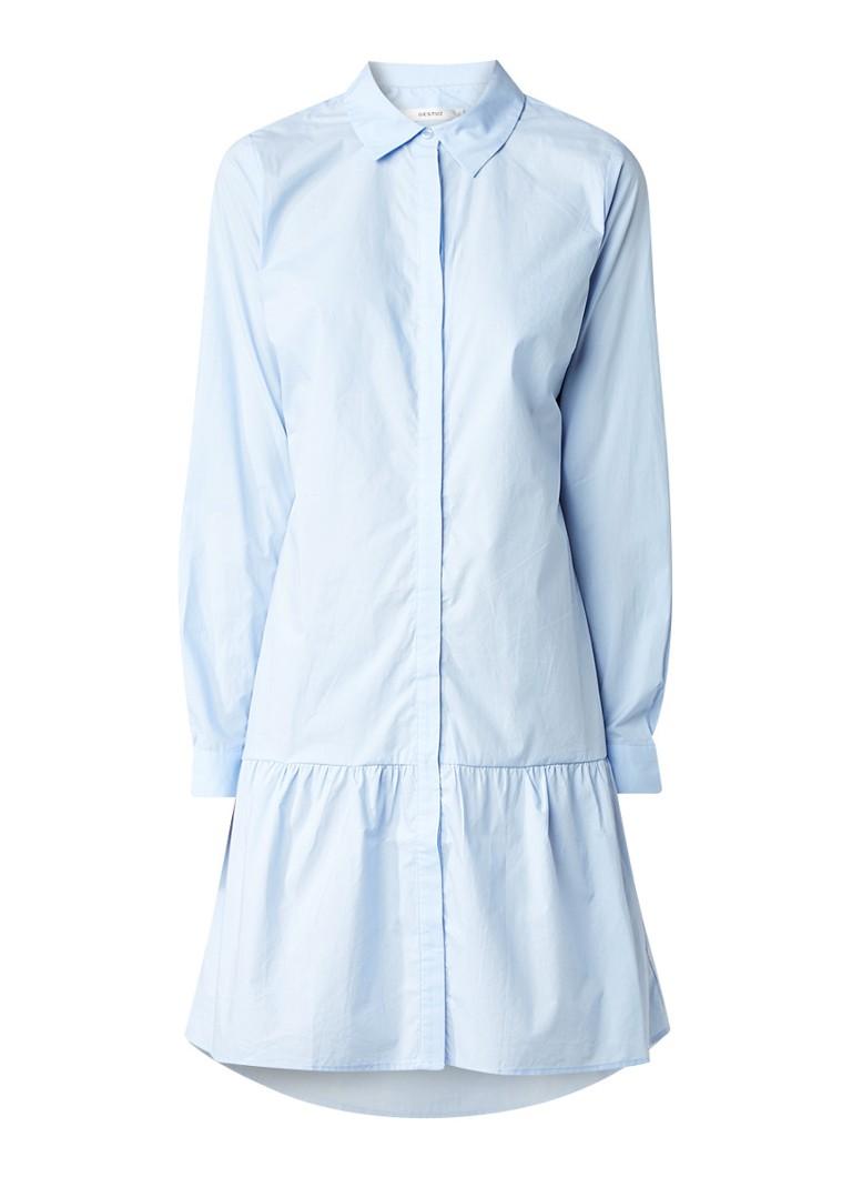 Gestuz Inesa blousejurk van katoen lichtblauw
