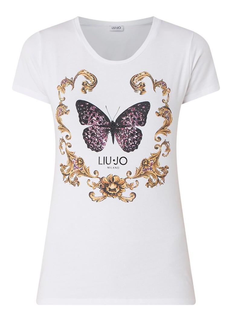 Liu Jo Butterfly T-shirt met strass