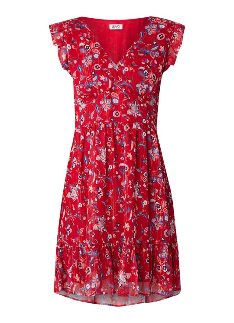 Liu Jo Bloom Texan tuniekjurk met bloemendessin en volant rood