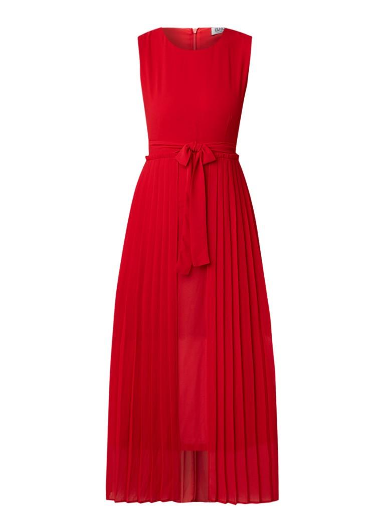 Liu Jo Mouwloze maxi-jurk met plissé rood