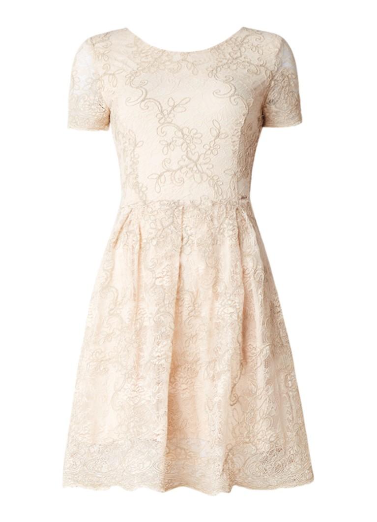 Liu Jo A-lijn jurk van kant met rijgdetail aan achterzijde beige