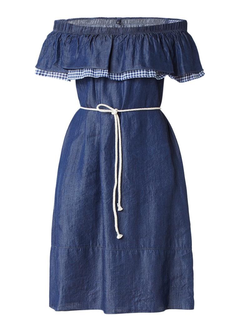 Liu Jo Wink off shoulder jurk met denim look indigo