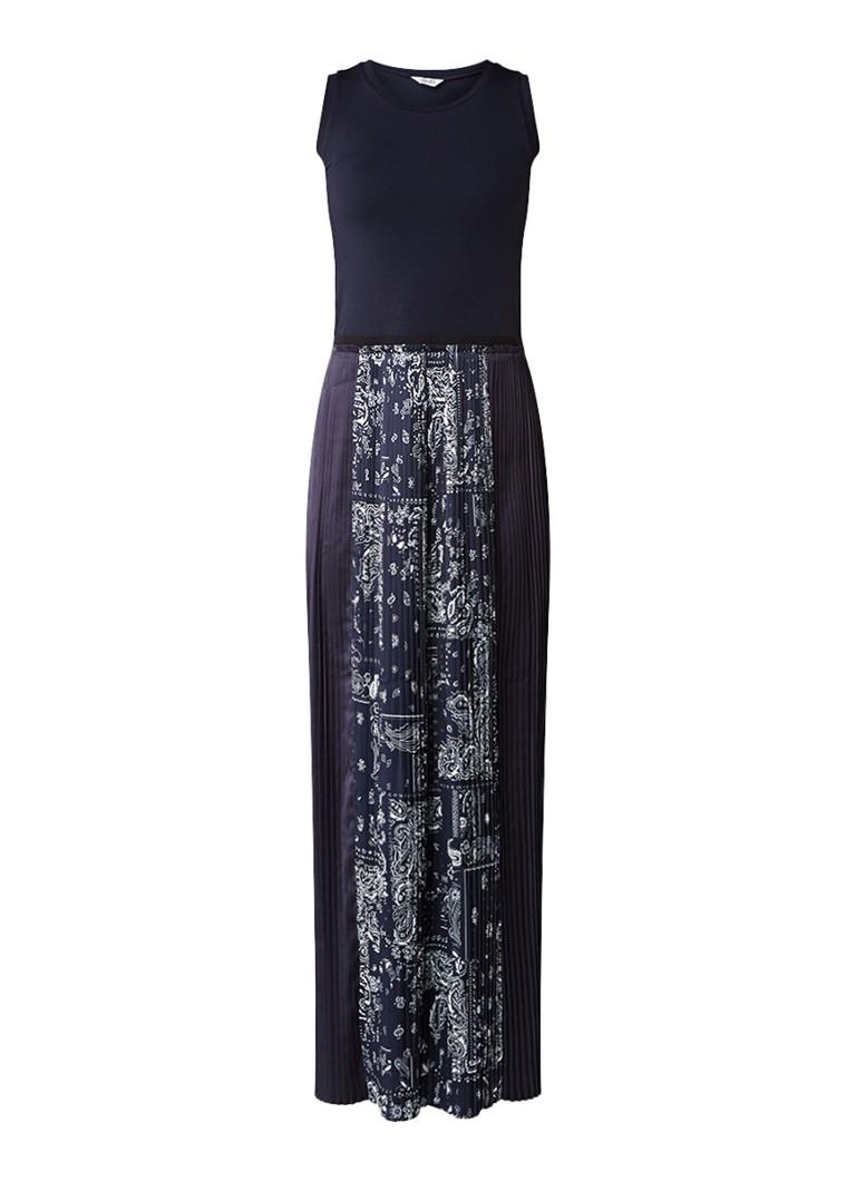 Liu Jo Maxi-jurk met plissé en paisleyprint donkerblauw