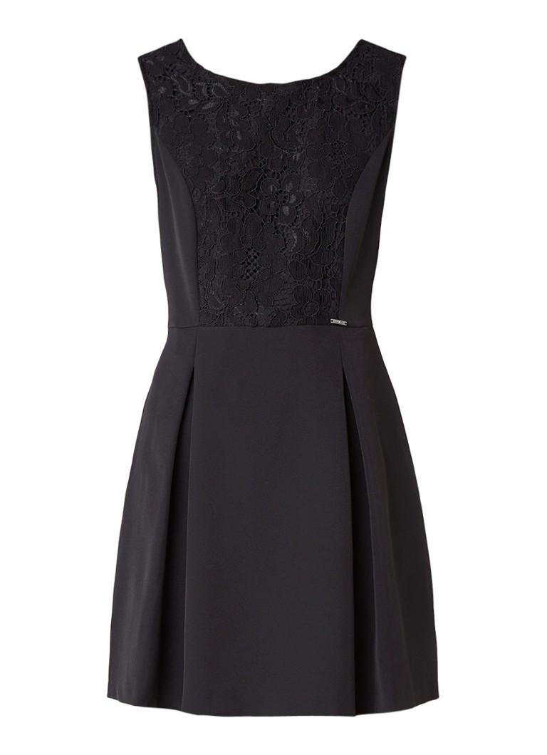 Liu Jo A-lijn jurk met inzet van kant zwart