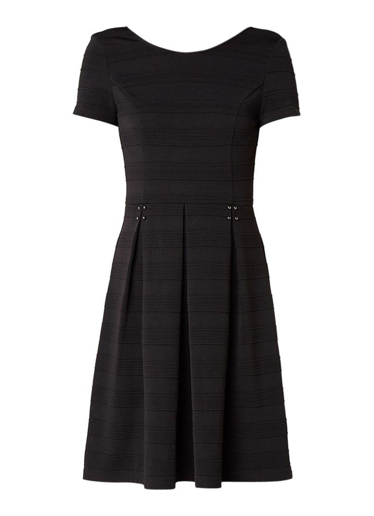 Liu Jo A-lijn jurk met ingebreide streepstructuur zwart