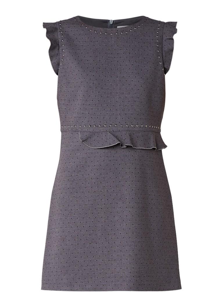 Liu Jo Mini-jurk met polkadotdessin en volant antraciet