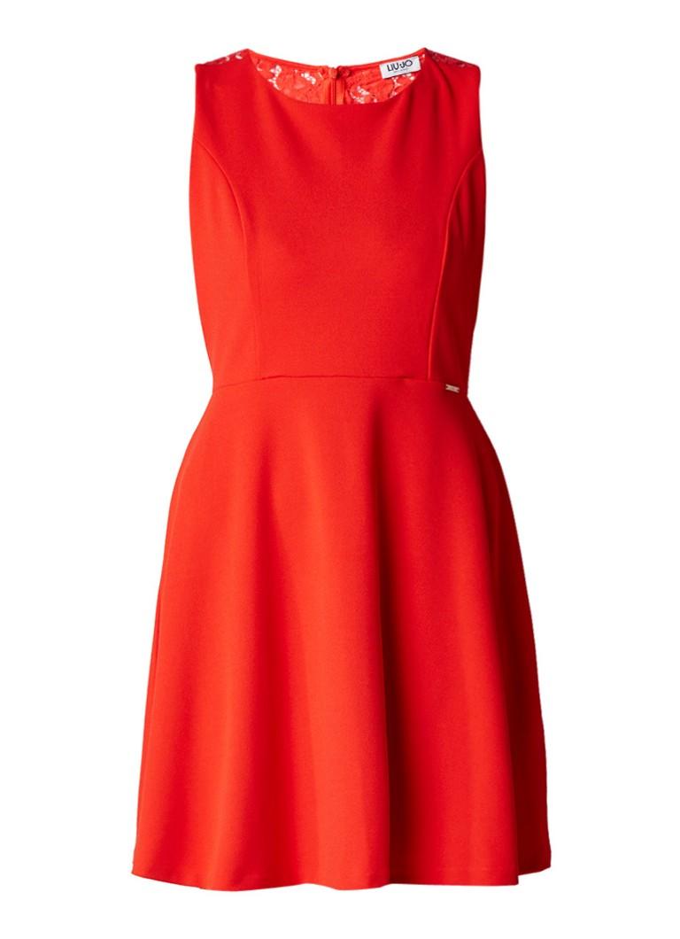 Liu Jo A-lijn jurk met rug van kant rood