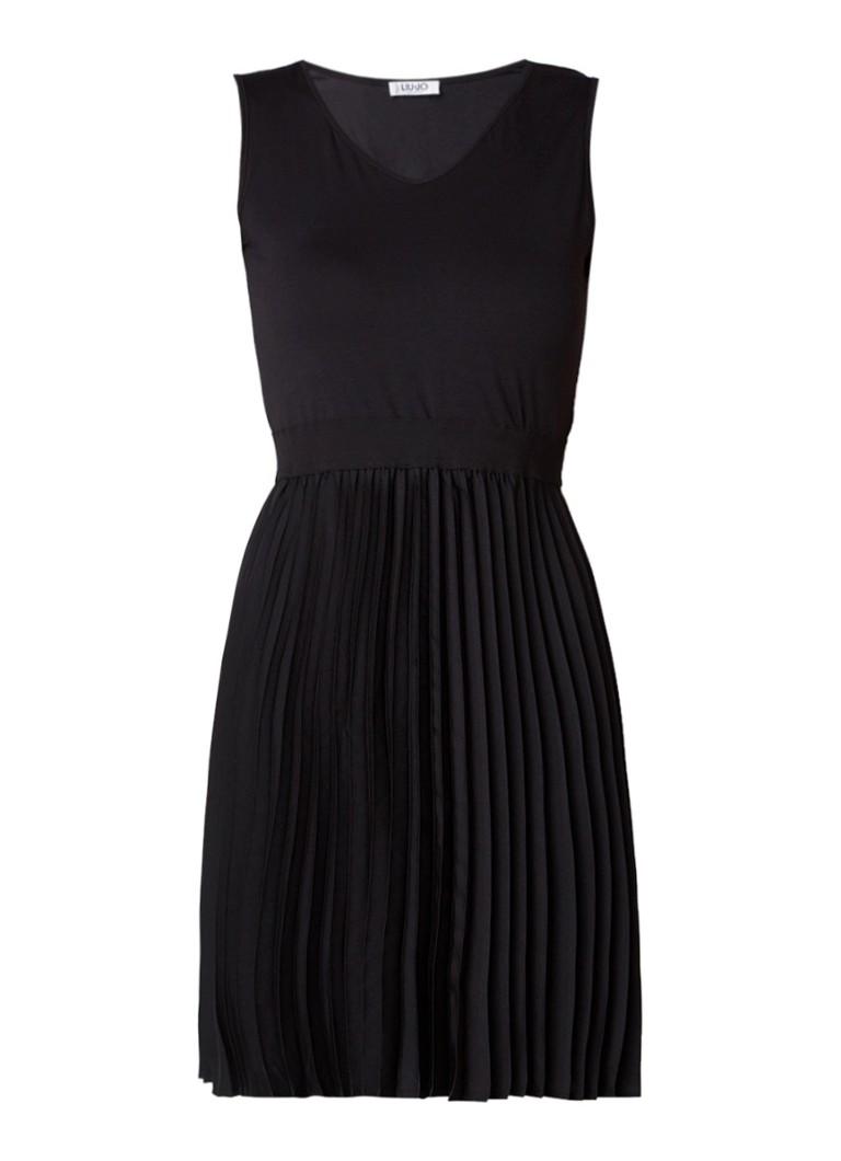 Liu Jo A-lijn jurk met plissé contrast zwart