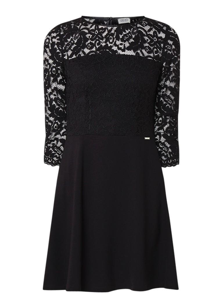 Liu Jo A-lijn jurk met top van kant zwart