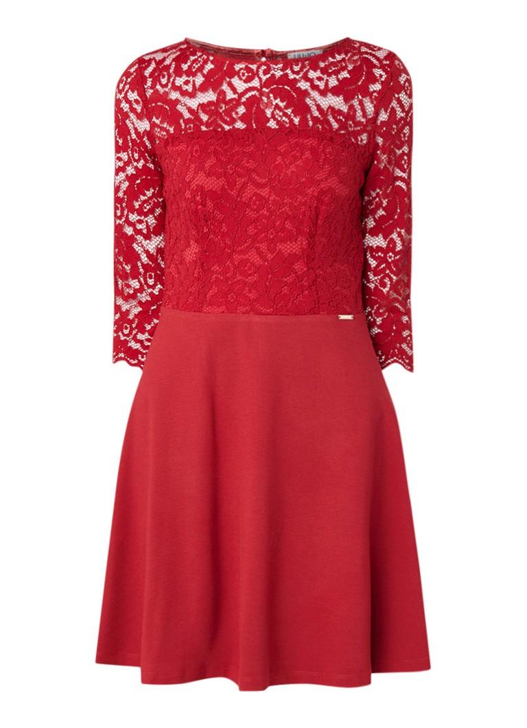 Liu Jo A-lijn jurk met top van kant rood