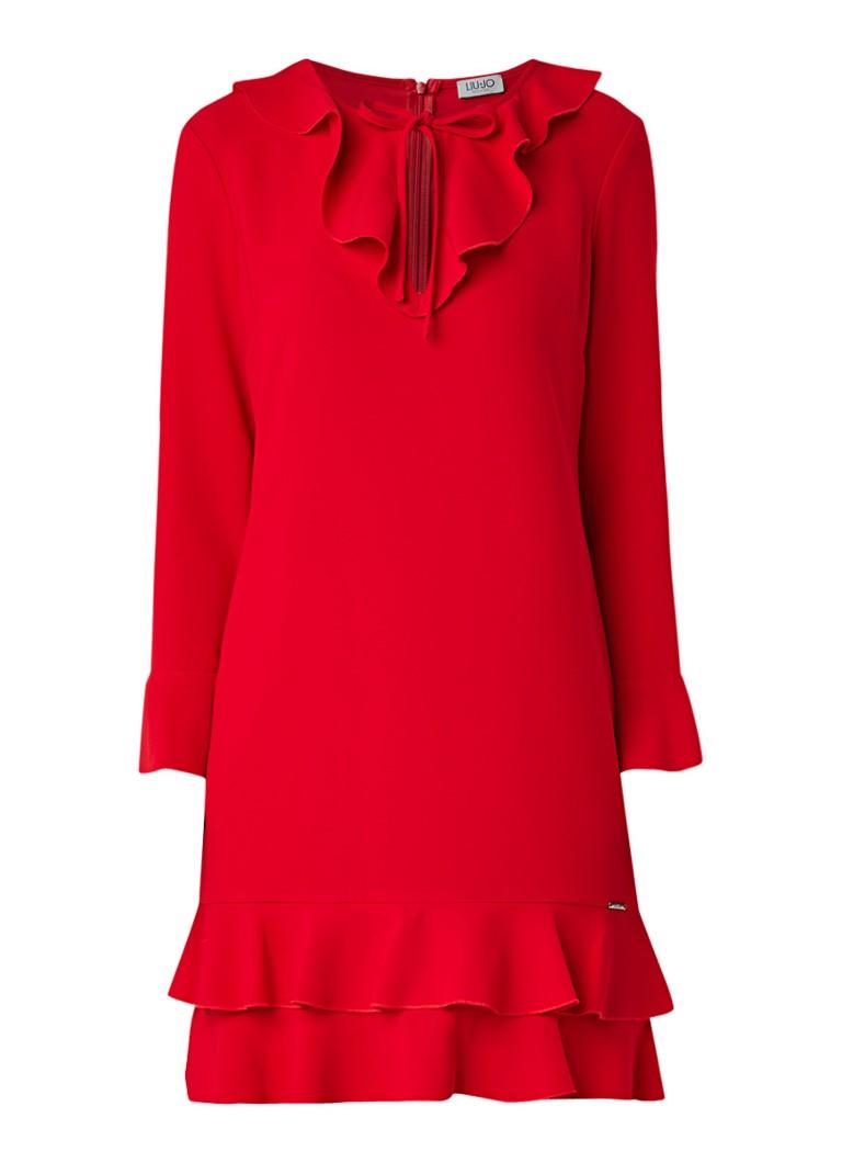 Liu Jo Gelaagde tuniekjurk met klokmouw rood