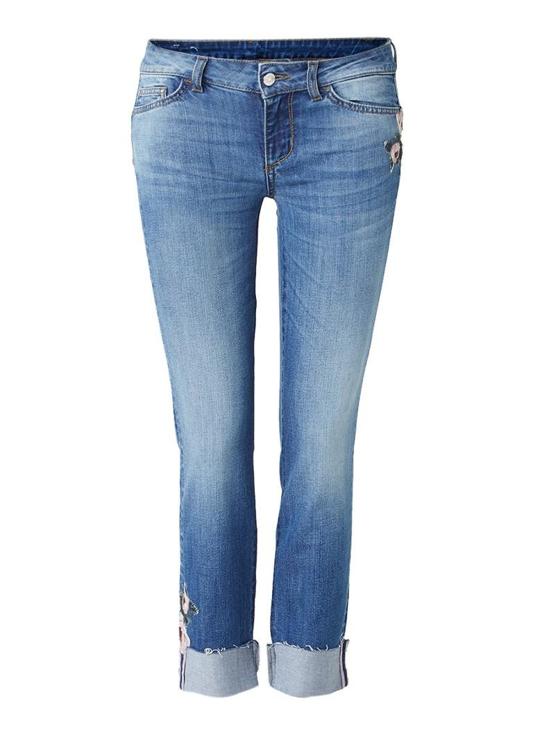 Liu Jo Bottom Up Monroe mid rise capri jeans met borduringen